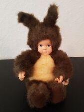 Anne Geddes Baby Squirrel Doll Plush Stuffed Bean Bag Bottom Brown