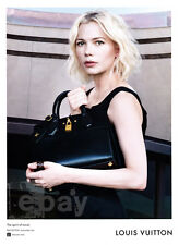 Michelle Williams 1-page clipping Jan 2016 ad for Louis Vuitton - black bag