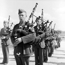 WW2 Photo WWII US Marine Corps  Bagpipers 1943 USMC World War Two / 8021