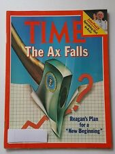 Time Magazine March 02 1981 The Ax Falls - Reagan's Plan New Beginning -English