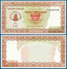 SIMBABWE / ZIMBABWE 20.000 Dollars 2003-2005  UNC P.23 (f)