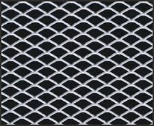 "12"" X 48"" CAR TRUCK UNIVERSAL ALUMINUM GRILL GRILLE DIAMOND MESH SECTION SILVER"