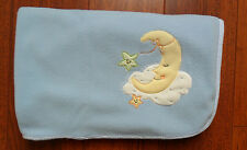 Lambs and Ivy Blue Moon Clouds Fleece Baby Blanket Lovey