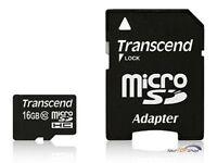 Transcend 16GB MicroSD Micro  16 GB Karte Class 10 SDHC Speicherkarte TS16GUSDHC
