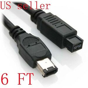FAST Firewire 800 to 400 IEEE 1394B 9Pin 6 Pin DV Cable 1.8m Converter