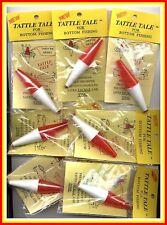 Wholesale Lot - 100 Tattle Tail Red/White Fishing Bobbers