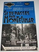 Partition vintage music sheet ANDRE VERCHUREN : Par Montélimar * Accordéon