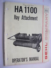 GEHL HA1100 HAY ATTACHMENT OPERATOR'S MANUAL, # 902560