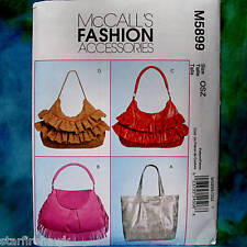 MCcall's 5899 Fashion Accessories 4 Hobobag NEW Pattern