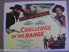 CHALLENGE OF THE RANGE~11X14~ VINTAGE LOBBY TITLE CARD~ORIGINAL~1949~DURANGO KID
