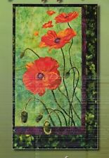 Poppies - raw edge applique wall quilt PATTERN - Toni Whitney