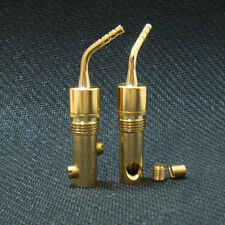 Speaker Wire 24k Gold-plated Nakamichi Pin Connectors Banana Plug Brass 2pcs
