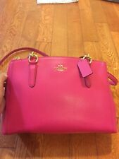 Coach Christie carryall crossgrain leather medium satchel - Pink