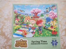 Animal Crossing Spring Time Premium 550 Piece Puzzle - COMPLETE - RARE