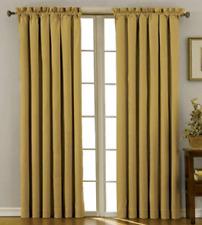 "NIP Eclipse Canova Rod-Pocket Window Thermaweave Curtain Panel 42""X84"" Gold"