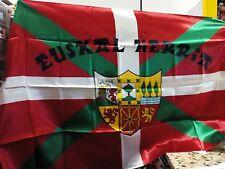 BANDERA IKURRIÑA con Escudo y Lema EUSKAL HERRIA