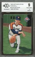 1993 mother's ryan farewell #5 NOLAN RYAN 1988 ASTROS houston astros BGS BCCG 9