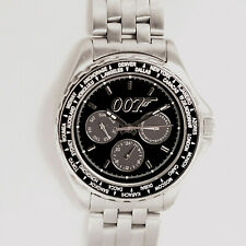"""James Bond """"007"""" Fossil New Unworn Limited Edition, Metal/Rubber Band Watch $189"""