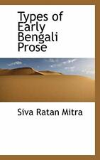 Types of Early Bengali Prose