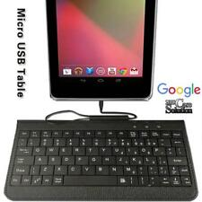 Micro USB Leather Keyboard Plug and play For Google Nexus 7 9 TABLET