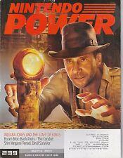 MARCH 2009 -  NINTENDO POWER video game magazine INDIANA JONES - STAFF OF KINGS