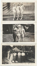 VINTAGE IMAGES OR CIRCUS PERFORMERS, SET OF THREE.