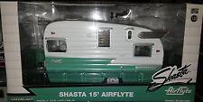 Shasta Airflyte Trailer 15 foot Diecast 1:24 Greenlight 7 inch Green White
