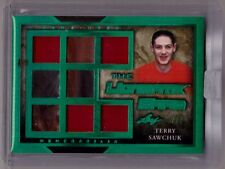 TERRY SAWCHUK 16/17 Leaf Ultimate Card Jersey Leather Glove Patch SP #d 2/2