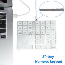 Aluminium Numer Keypad Keyboard 34 Tasten Tastatur für Apple IOS Windows Mac