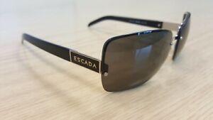 Escada Black Silver Genuine Womens Sunglasses SES 506 579 Ex Display UK Stock