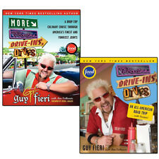 Diners Drive-ins and Dives Collection 2 Books Set by Guy Fieri,Ann Volkwein NEW