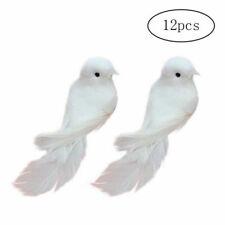 12pcs Artificial Foam Doves Simulation Feather White Birds Home Craft Ornament