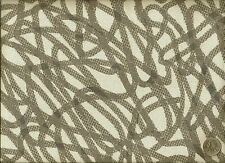 Woven Script Dove Abstract Contemporary Gray and Offwhite Upholstery Fabric