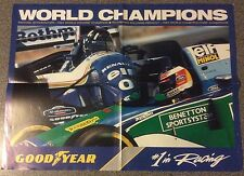 Collectable 1994 Goodyear Formula 1 Champions Schumacher Hill & Williams Poster
