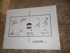 ORIGINAL PRODUCTION ART PIECE SPIDERMAN FIGURES & TOYS BURGER KING