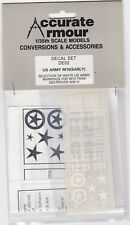 ACCURATE ARMOUR DE02 - US ARMY M10 (EARLY) - 1/35 DECALS