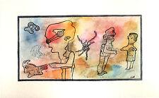 Codex  - aquarelle et encre sur papier aquarelle