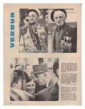 1966 DOCUMENT (ref Sla 003) VERDUN : GENERAL DE GAULLE MEDAILLE POILUS 1page