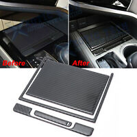For Toyota Camry 18 19 Rear Carbon Fiber Center Console Storage Box Cover Decals