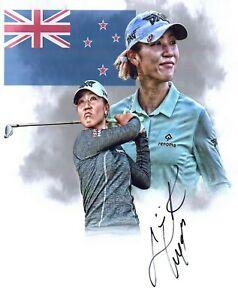 Lydia Ko LPGA star hand signed autographed 8x10 golf photo edit coa GIRL WONDER