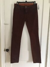 J brand Wax Coated Jeans Copper Red Turb C Cly Pencil leg Jeans Size 27