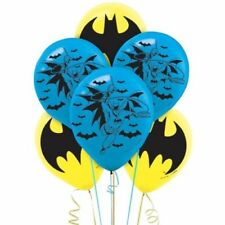 "6x BATMAN Superhero Printed Latex Balloons 12"" Birthday Party Decoration"