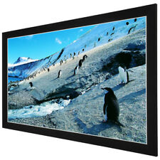 """92"""" Deluxe 16:9 Fixed Frame Projector Screen 80""""x45"""" PVC Projection Home Theater"""