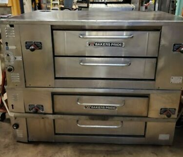 Bakers Pride DS805 Double Stack 2 Deck Gas Pizza Ovens GOOD STONES TECHTESTED