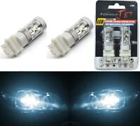 LED Light 50W 4114 White 6000K Two Bulbs DRL Daytime Running Replacement Lamp OE