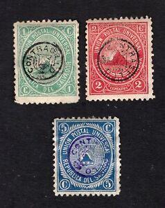 Salvador 1879 3 stamps Mi#Telegraph 1a-3a MH
