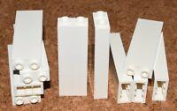 LEGO bricks 1x2x5 (pack of 10) panels # WHITE pillar column walls police