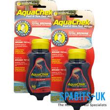 2 PACK Aquachek 50 Bromine Test Strips 4 Way Hot Tub Spa Pool Quick Stick