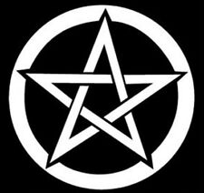 Pentagram Decal Wall Art Sticker Car Window Laptop Rock n Roll Hippie Biker Yeti