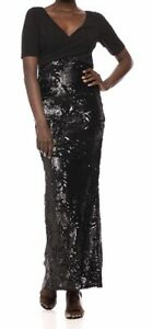 ADRIANNA PAPEL LONG BLACK EVENING DRESS NEW WITH TAGS SIZE 18